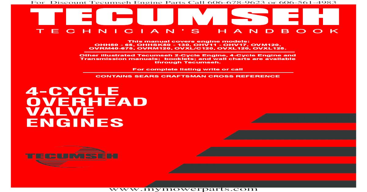 Tecumseh Service Repair Manual - [PDF Document]