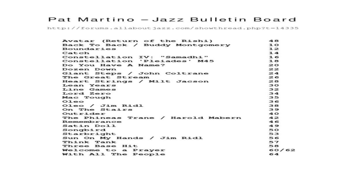 Pat Martino Tune Book - [PDF Document]