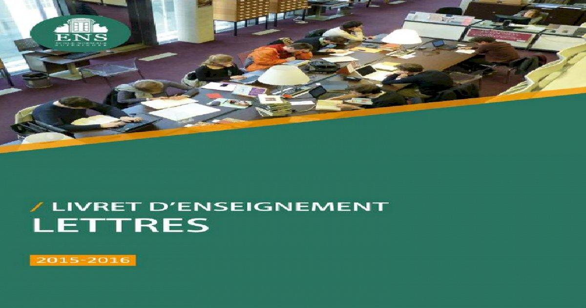 Brochure Ens 2015 2016 Pdf Document