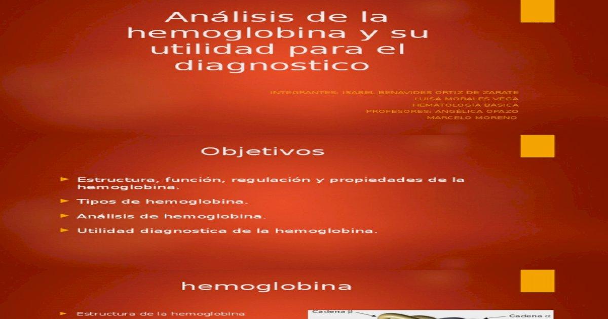 Anlisis Clnico De La Hemoglobina Y Su Utilidad Pdf Document