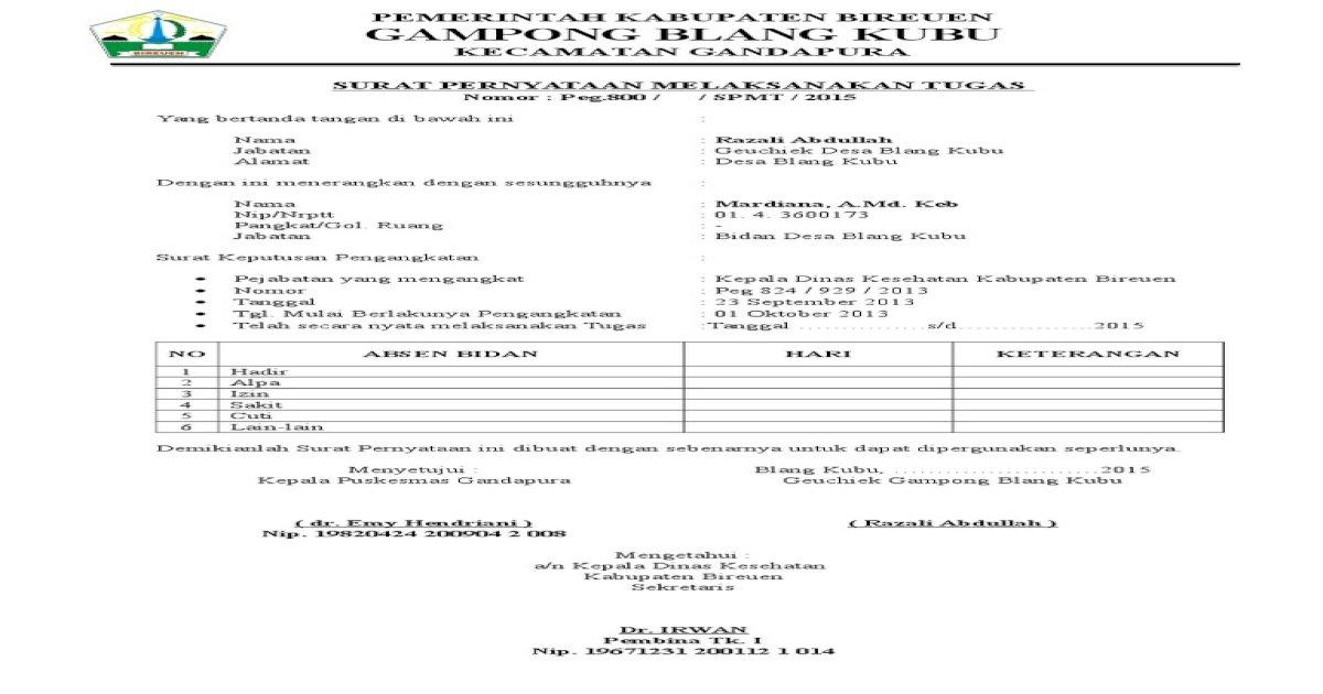 Surat Spmt Pdf Document
