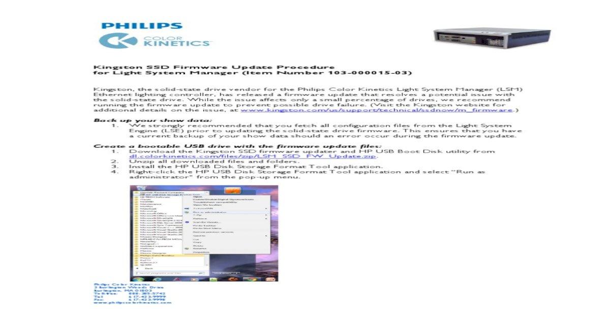 LSM SSD Firmware Update 020811-R00 - [PDF Document]
