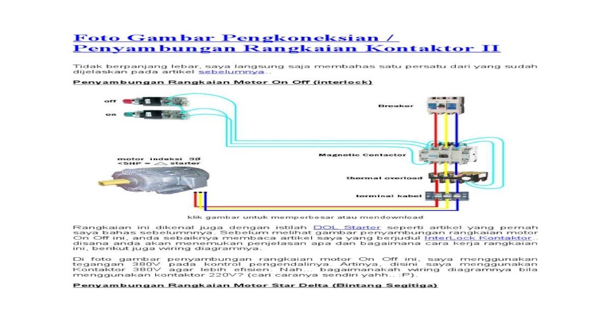 Foto Gambar Pengkoneksian Star Delta - [PDF Doent] on