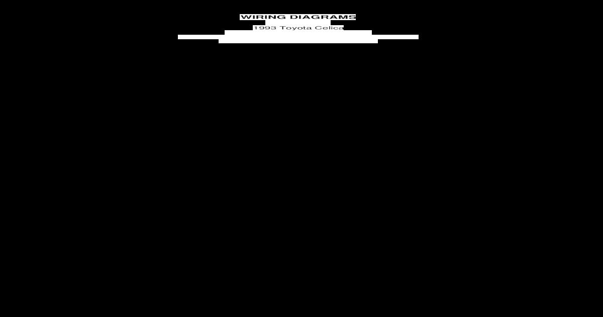Toyota Celica Wiring Diagram 1993 Pdf Document
