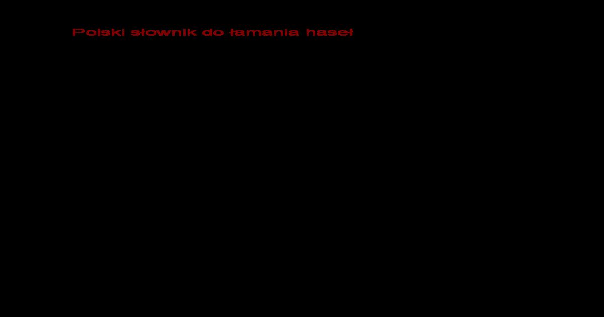 4a8851e4 Polski sownik do amania hase - [PDF Document]