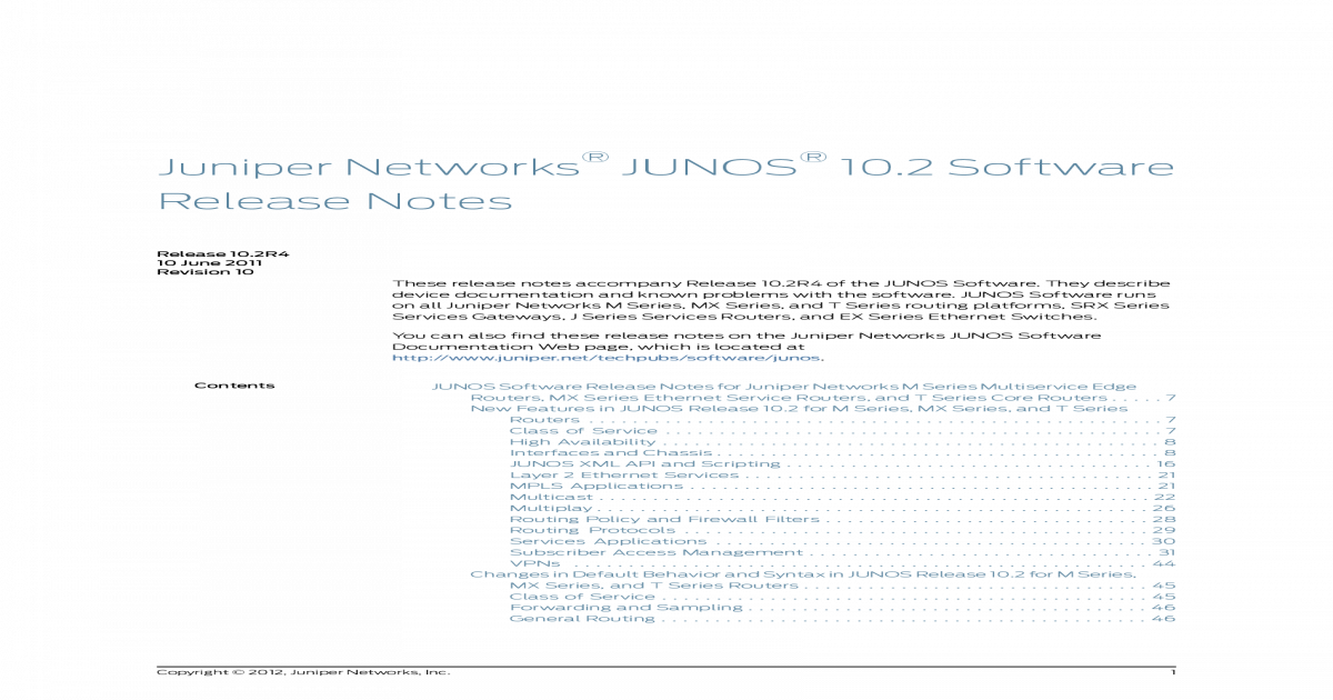 Junos Release Notes 10 2 - [PDF Document]