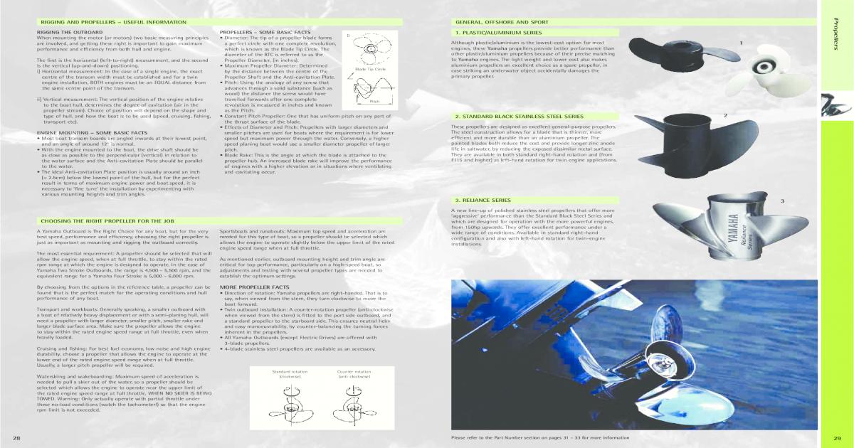 Yamaha Propellers - [PDF Document]