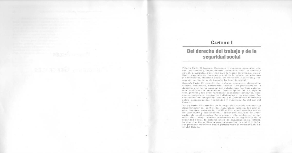 CURSO DE DERECHO DEL TRABAJO Y DE LA SEGURIDAD SOCIAL