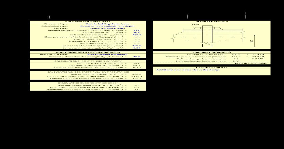 Holding Down Bolt Design to Bs5950 v1 0 - [PDF Document]
