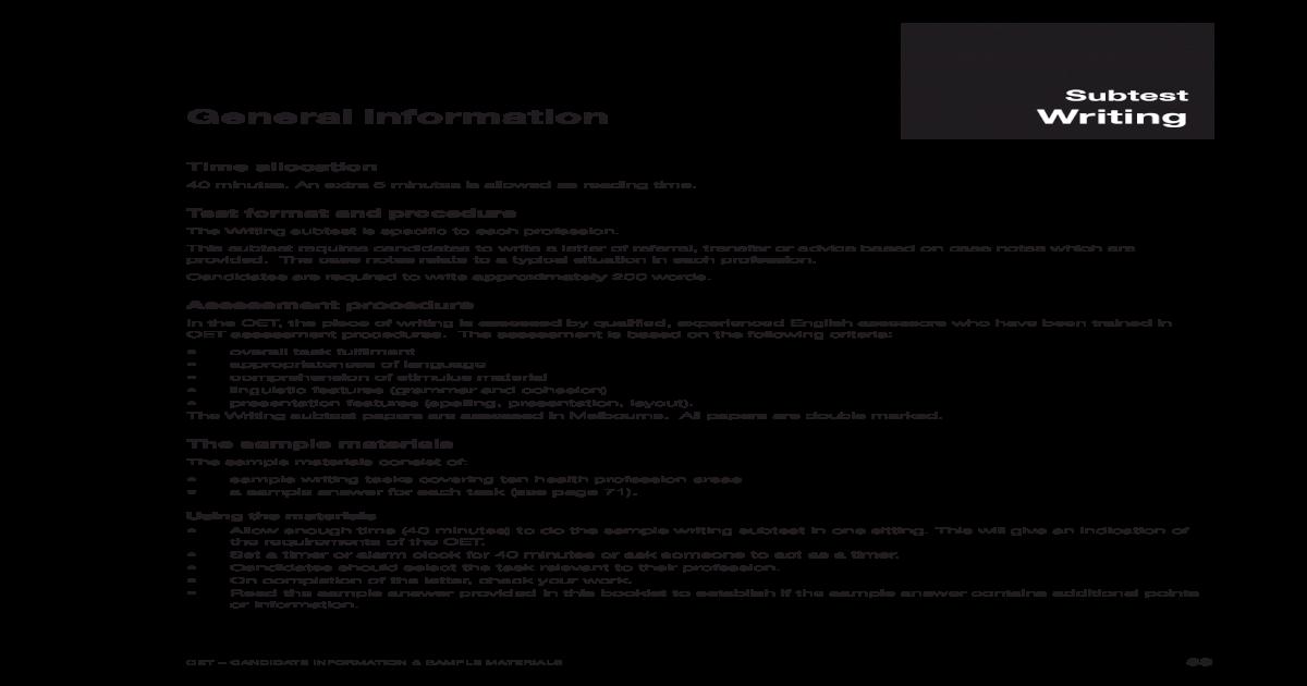OET Writing - [PDF Document]