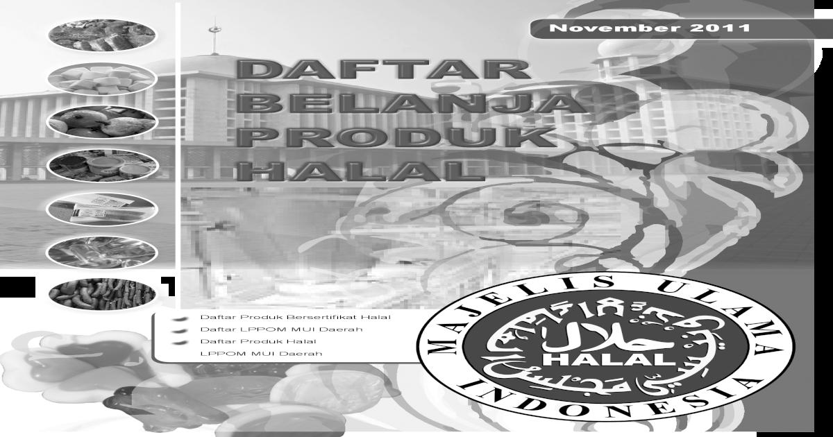 Daftar produk halal nov 2011 - [PDF Document]