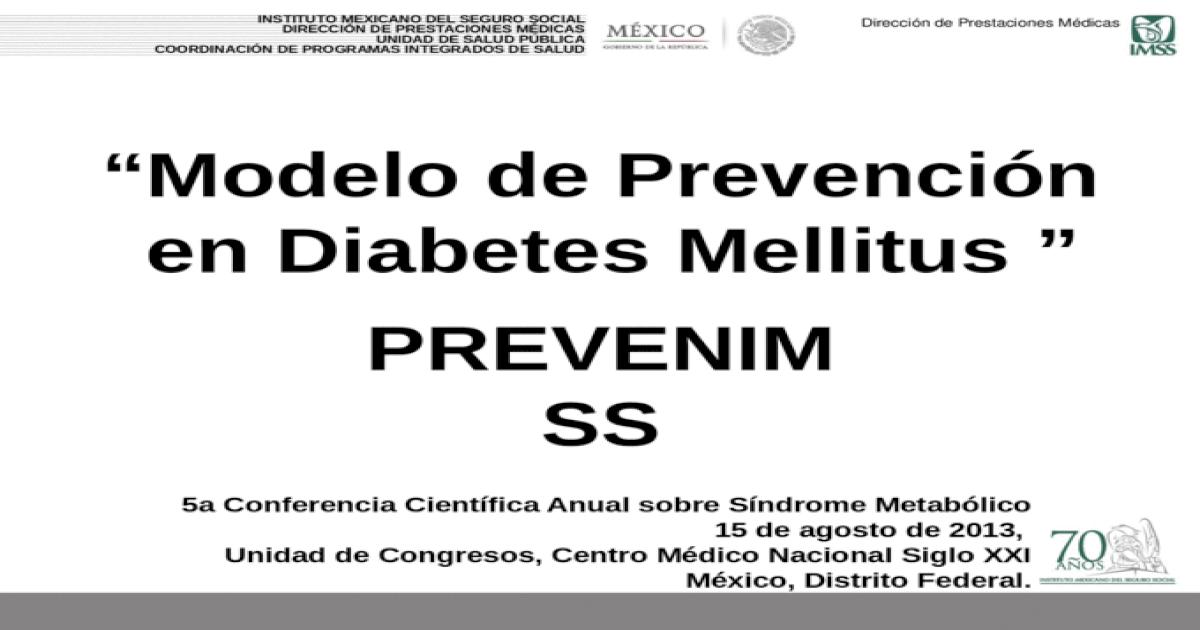prevención terciaria de diabetes ppt