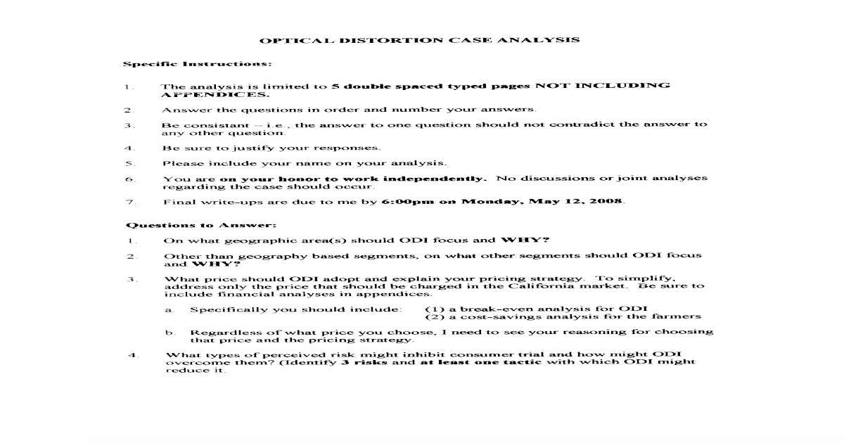 Optical Distortion Case Analysis[1] - [PDF Document]