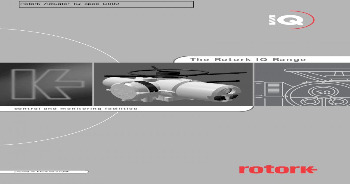 Rotork Actuator IQ Spec D900 - [PDF Document]