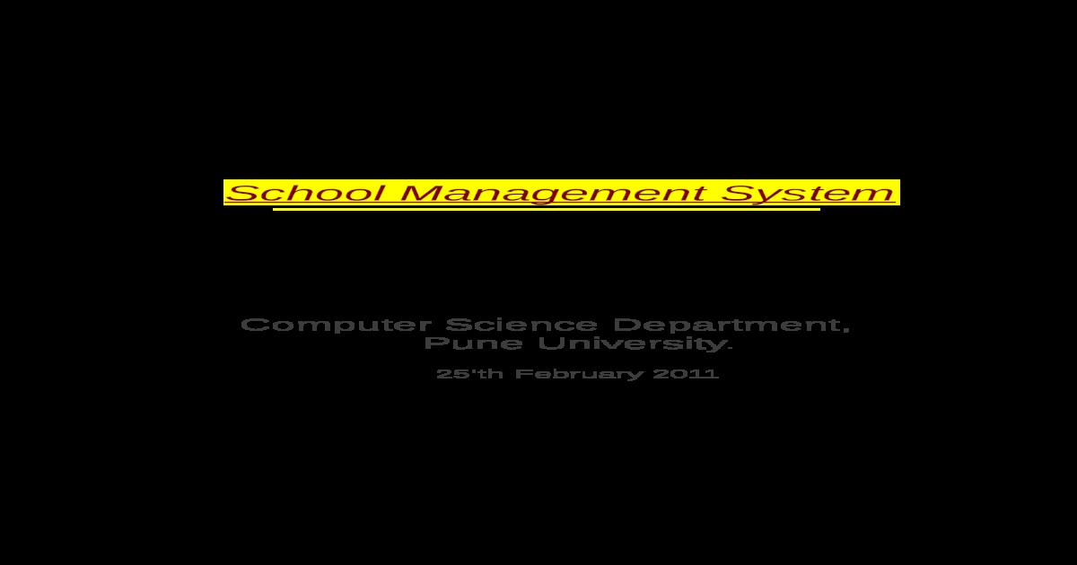 SRS for School Management Software - [PDF Document]