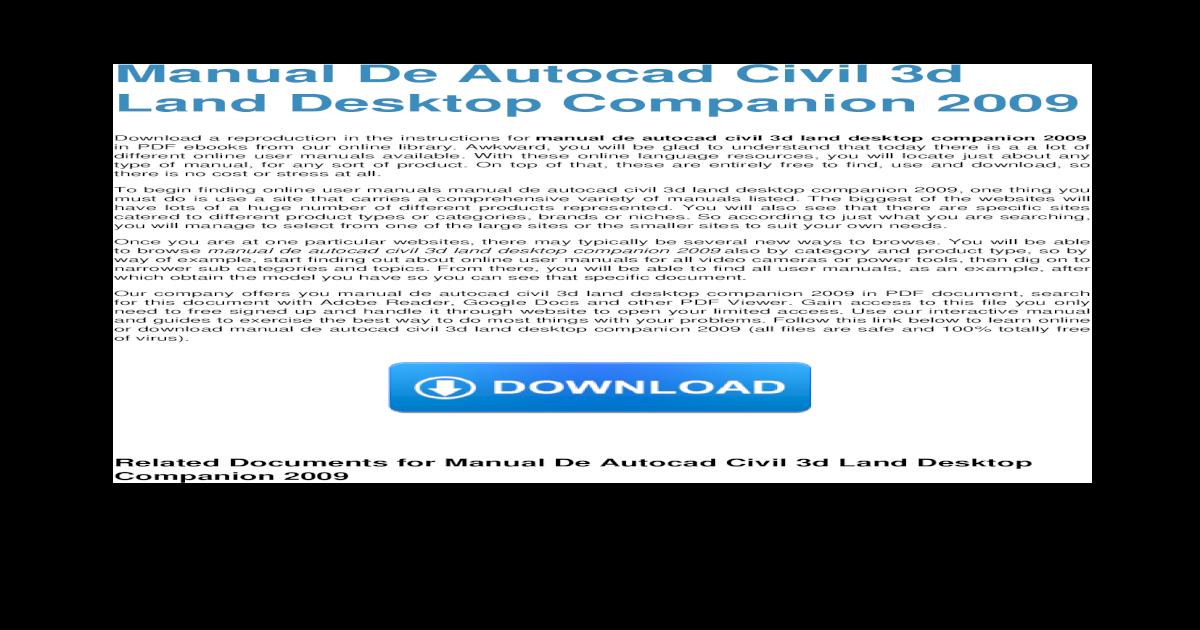 Download Civil 3d Land Desktop