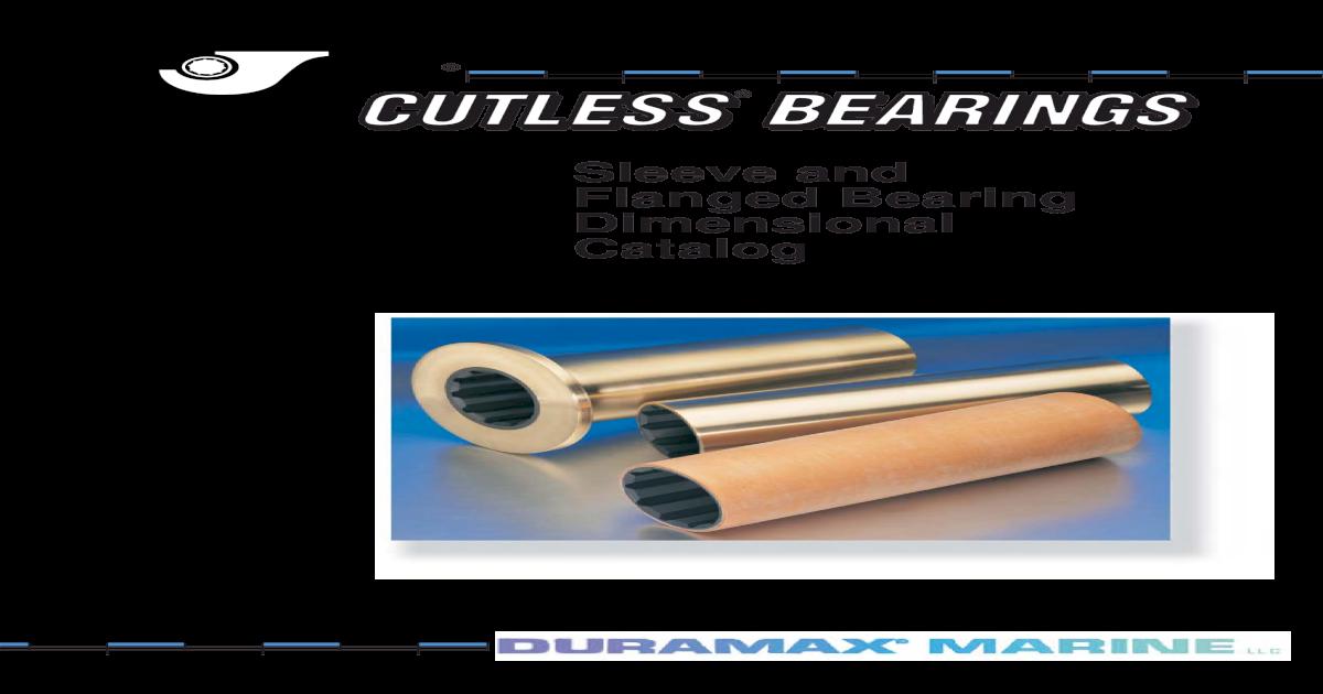 "Brand New Johnson Duramax Marine Crow Cutless Bearing 2 3//4/"" x 3 3//8/"" x 11/"""
