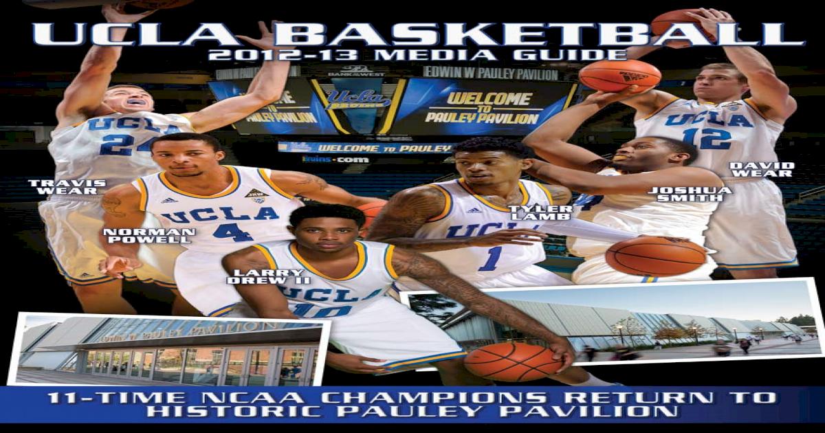 2012 13 UCLA Men's Basketball Media Guide [PDF Document]