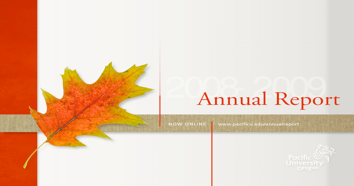 Pacific University Annual Report 2008 2009 Pdf Document