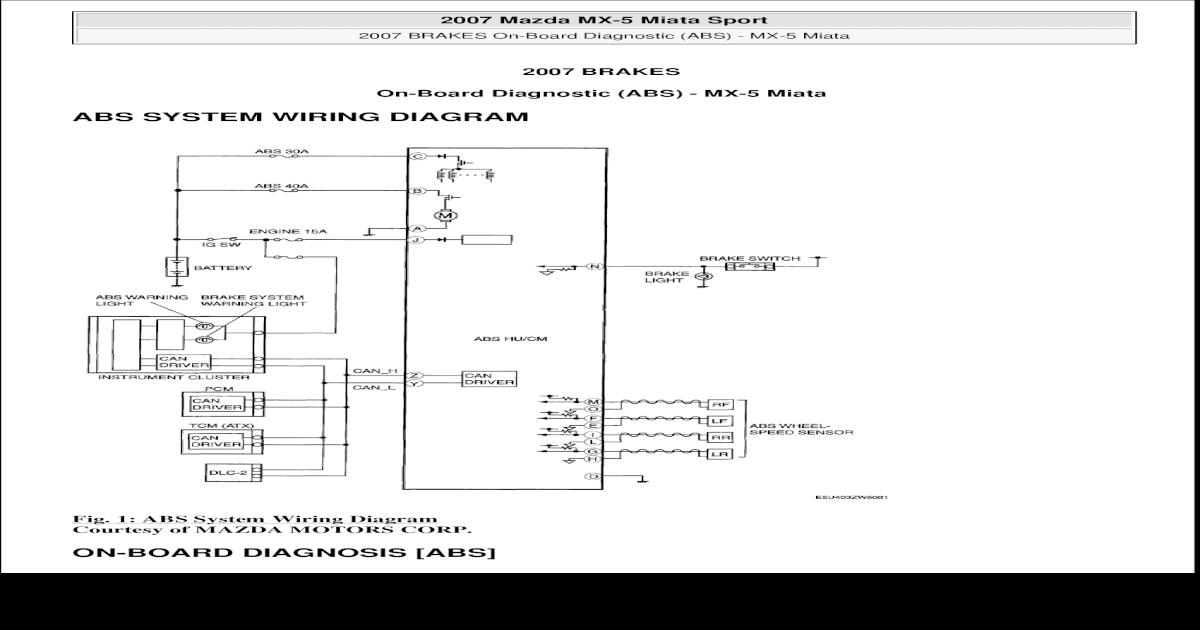 Mazda 5 Abs Wiring Diagram