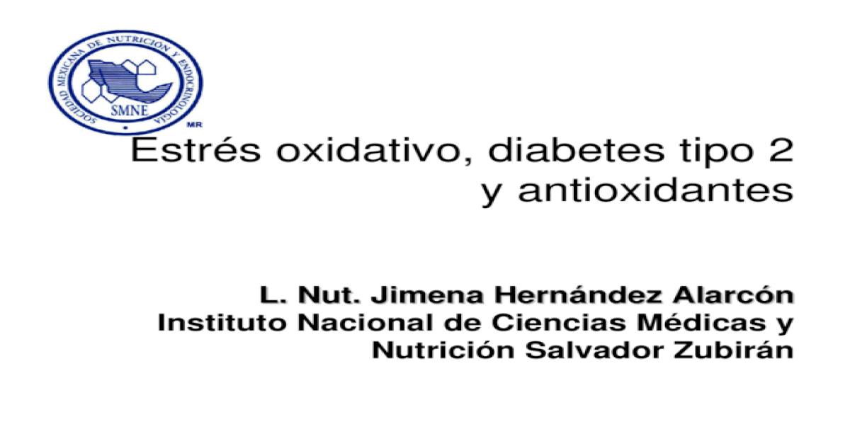 estrés oxidativo diabetes mellitus fisiopatología