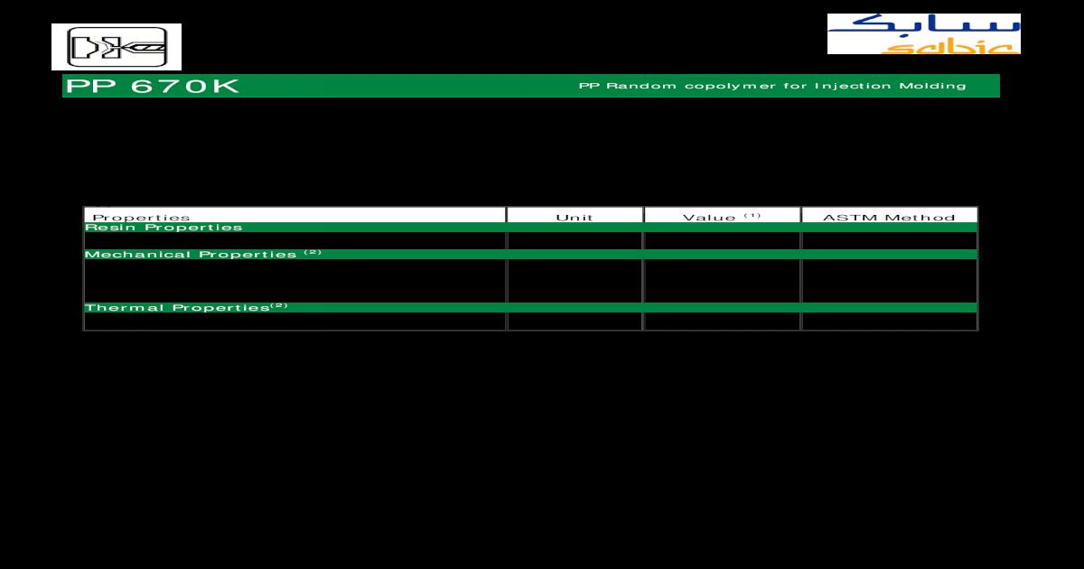PP COPOLIMERO 670K [SABIC] - [PDF Document]