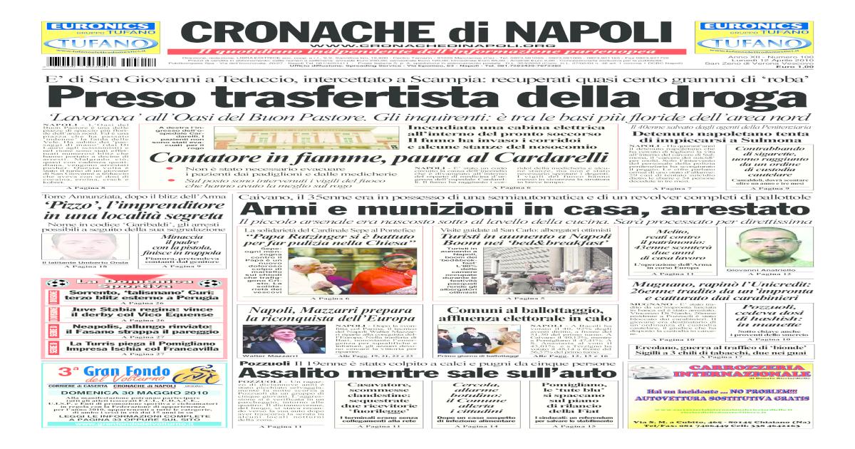 Cronache Di Napoli 12 Aprile 2010 [PDF Document]