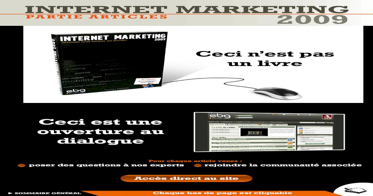 Theorie Internet Marketing 2009 Pdf Document