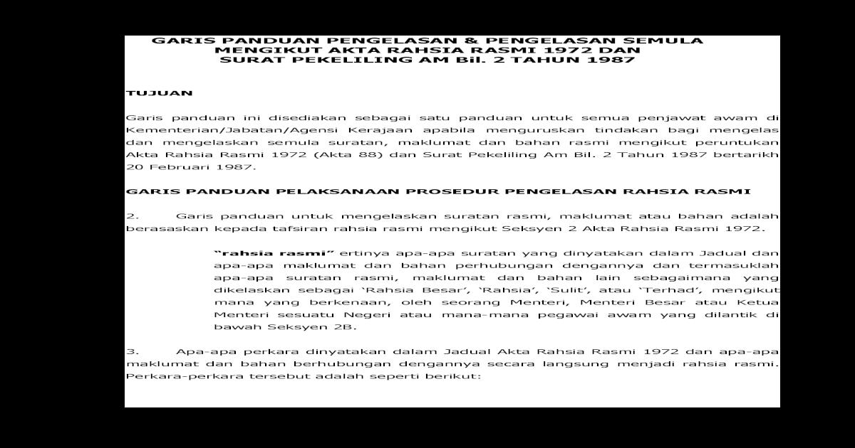 Garis Panduan Pengelasan Pengelasan Semula Pdf Document