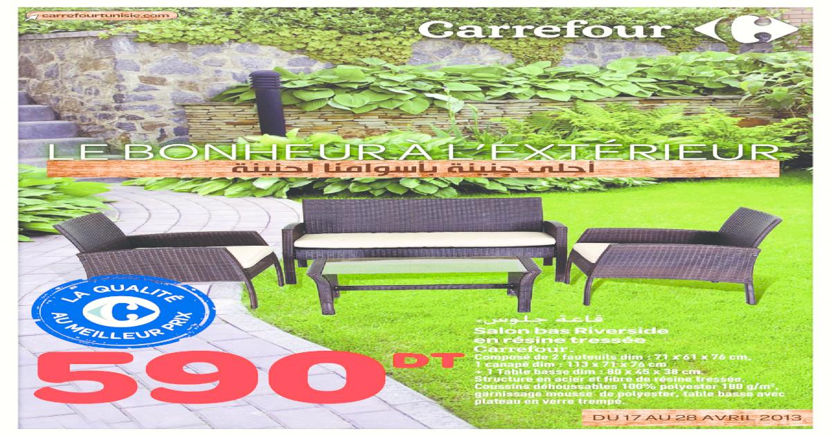 Catalogue Carrefour le bonheur l\'extrieur - [PDF Document]