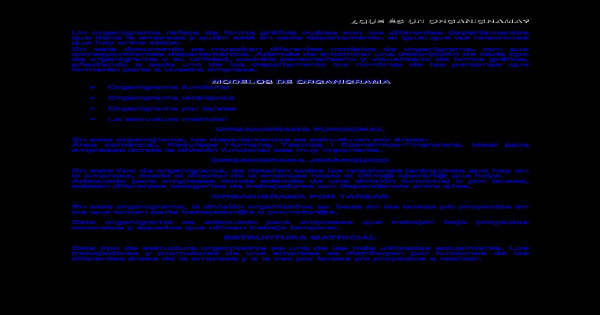 Que S Un Organigrama Modelos De Organigrama Organigrama