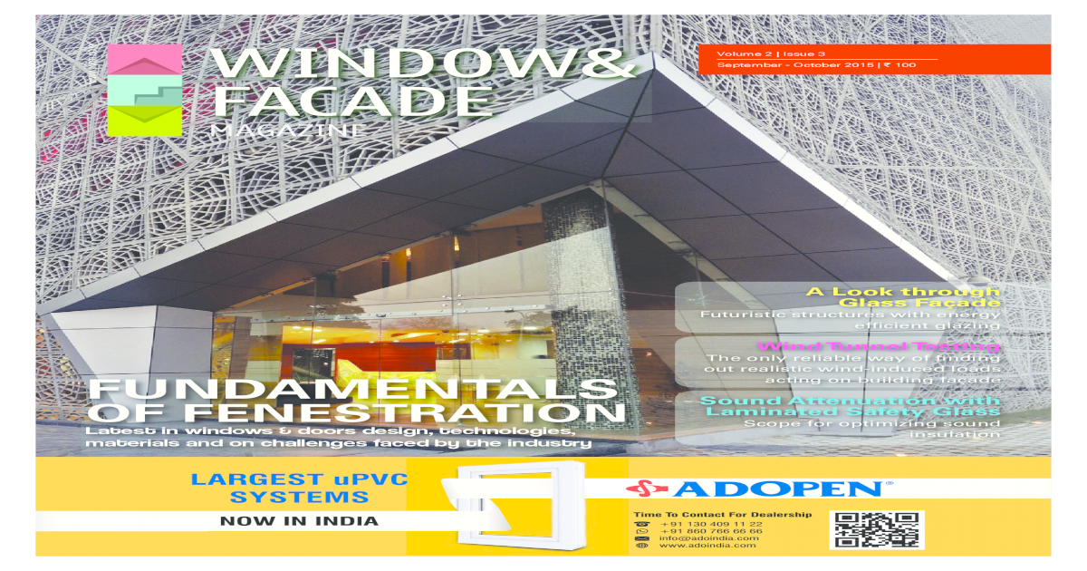 Window Facade Magazine Septemberoctober 2015 Issue