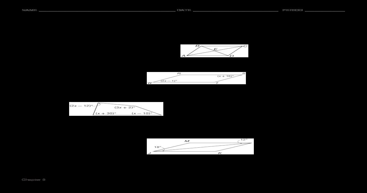 Chapter 6 Mid-Chapter Test (Assn. 3) SCORE _____ DATE