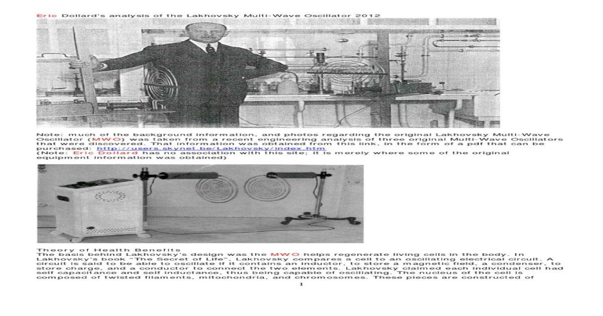 Eric Dollard MWO Update 2012 - [PDF Document]