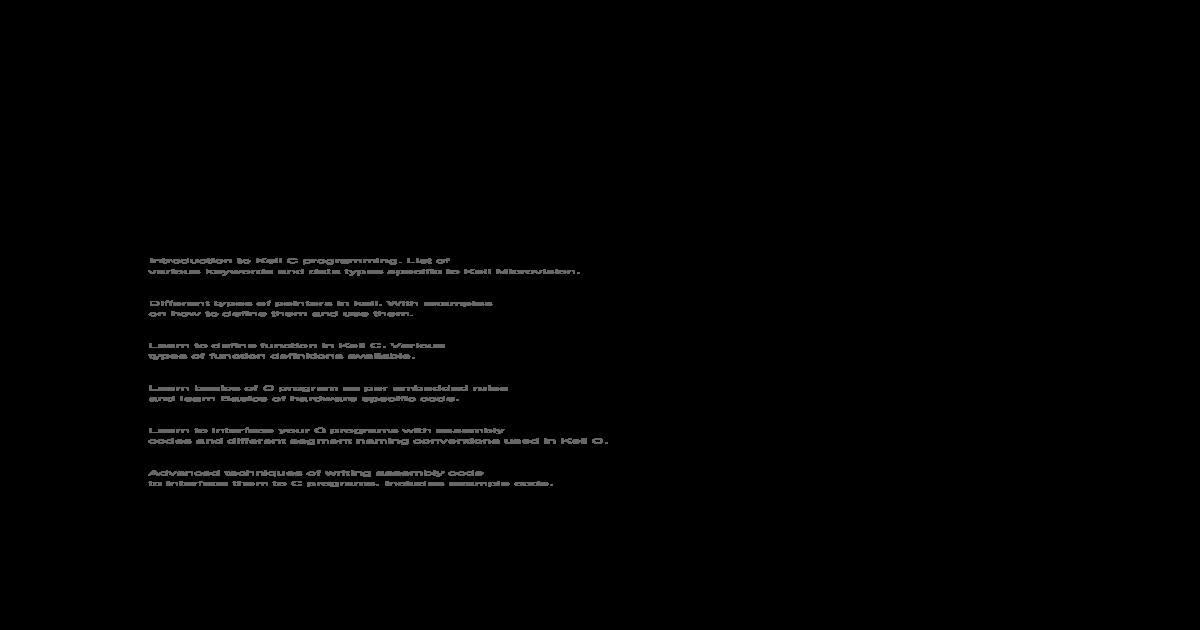 Keil C _ Embedded C Programming Tutorial - [PDF Document]