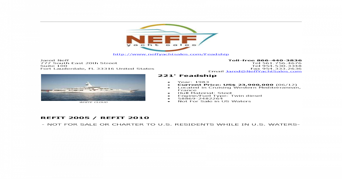 Feadships For Sale Feb 2013 Pdf Document