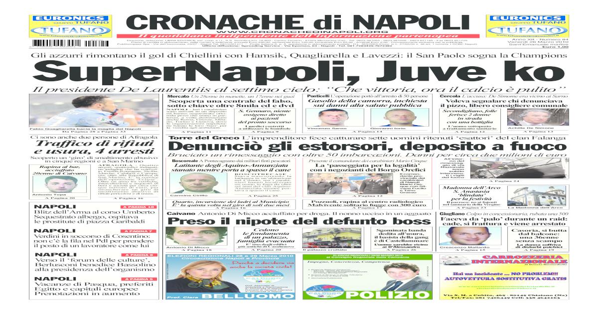 Cronache Di Napoli 26 Marzo 2010 [PDF Document]