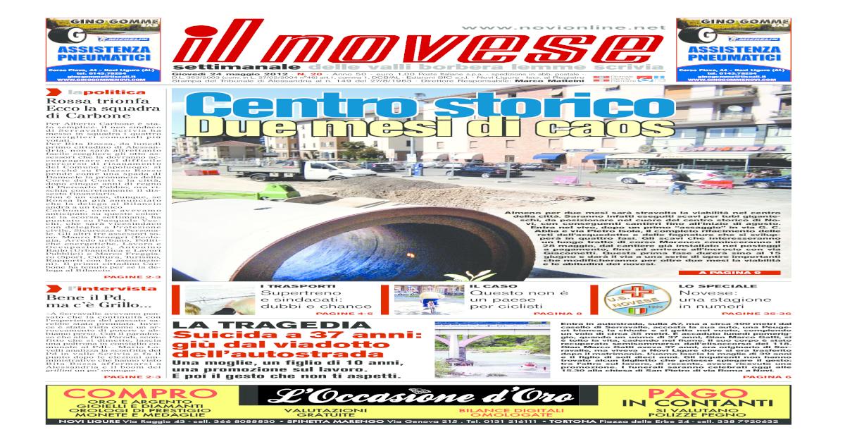 Prezzo del 50% acquisto economico nuove immagini di IL NOVESE n. 20 del 24 maggio 2012 - [PDF Document]