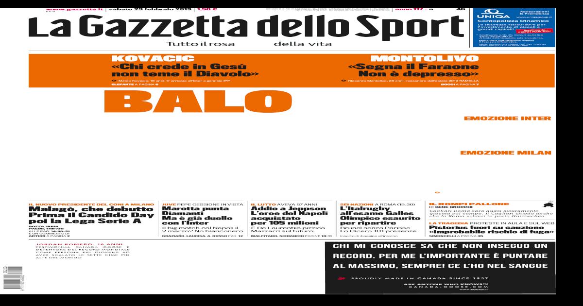 Gazzetta Dello Sport 23022013 [PDF Document]