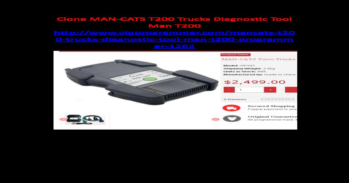 Clone man cat t200 trucks diagnostic tool - [PDF Document]
