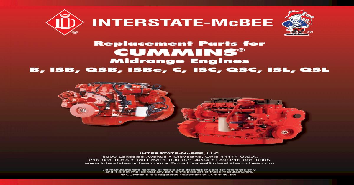 Interstate McBee Salvage Liner M-4919951 for 6.7 L Cummins 24 Valve Diesel