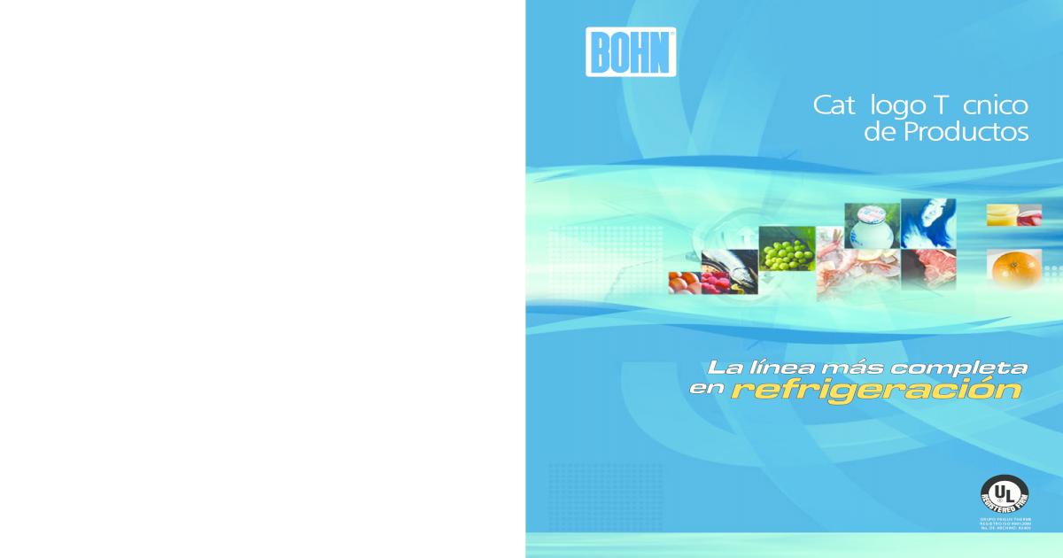 BCT 001 CT 1 Catalogo Condensado Bohn Tecnico - [PDF Doent] Blue Diagram Sea Wiring on