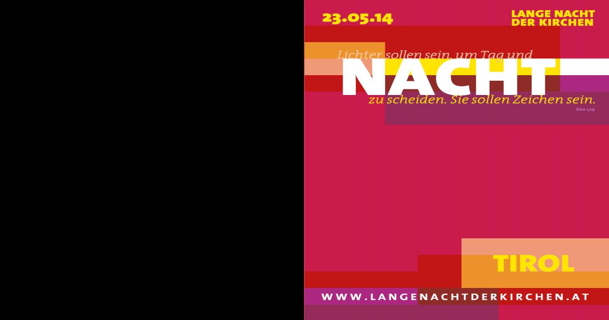 Programmheft Lange Nacht der Kirchen, Tirol, 2014 - [PDF ...