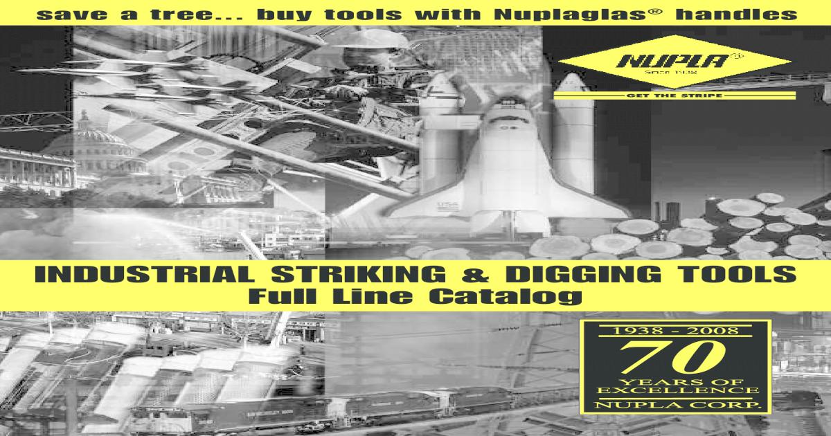 Nupla 59186 36 Classic Nuplabond Handle CS long grip fits 6-20lb sledge//6-8lb maul