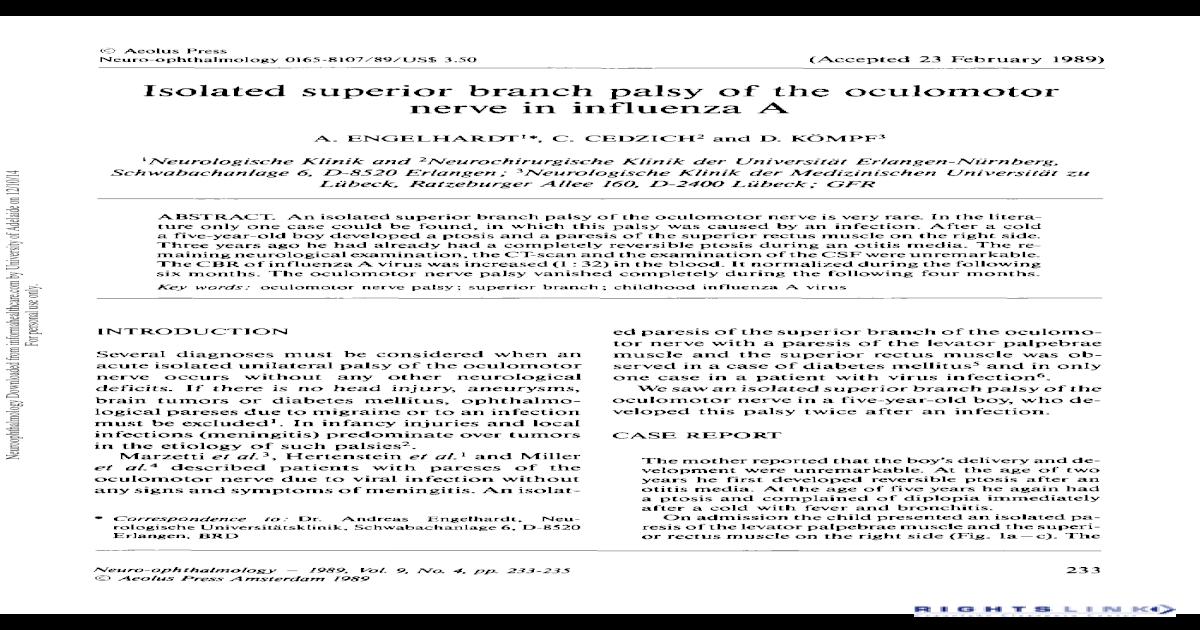 oculomotorius diabetes mellitus