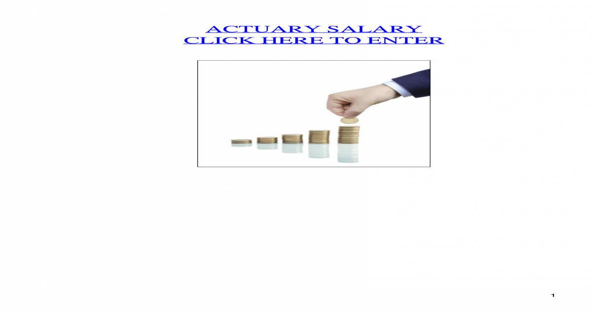 Actuary Salary - [PDF Document]
