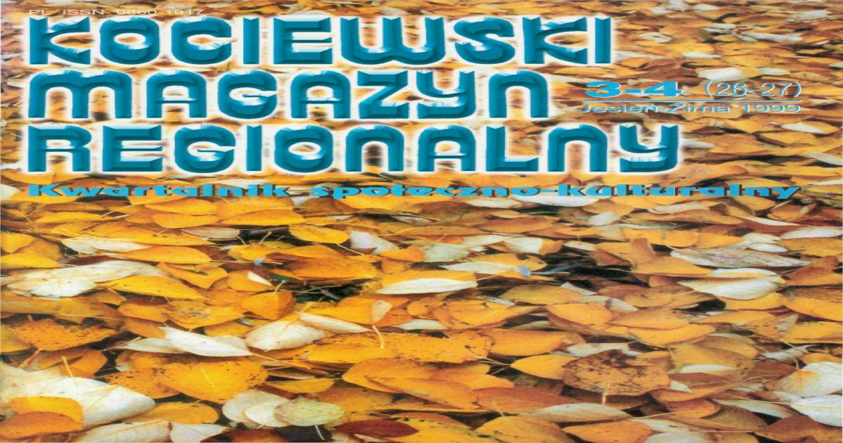 Kociewski Magazyn Regionalny Nr 26 27 Pdf Document