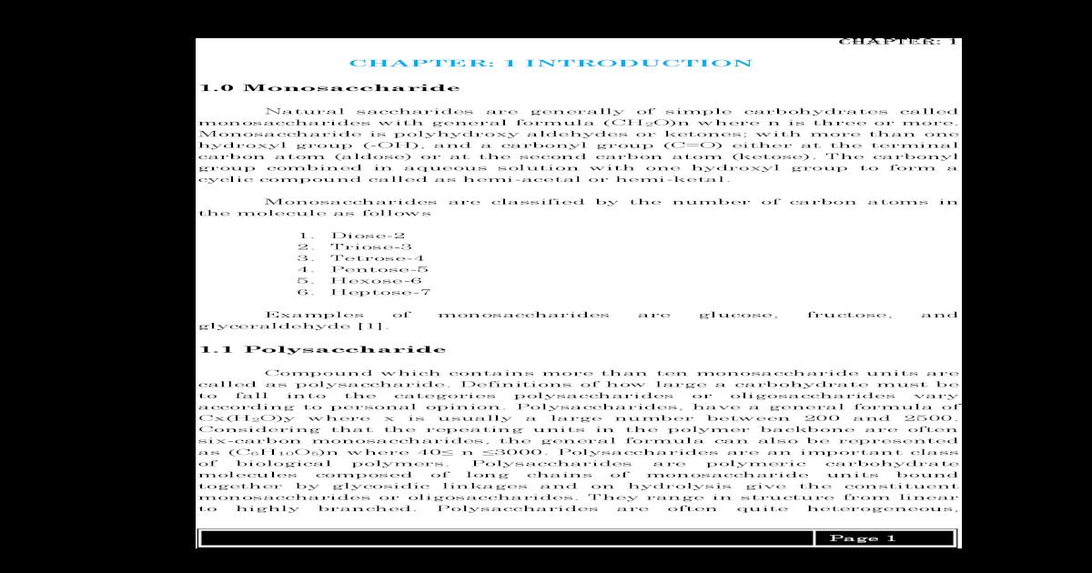 Chapter 1 Introduction 1 0 Mono 1 Pdf Chapter 1 4 Pentose 5 5 Hexose 6 6 Hydrophilic Pdf Document