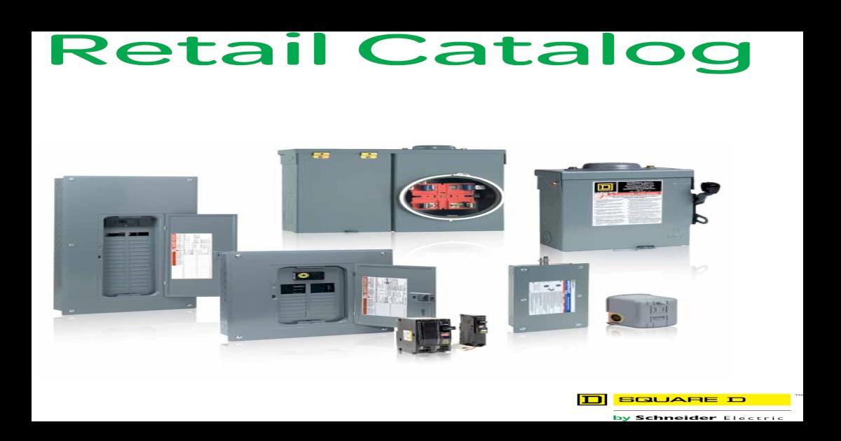 Retail Catalog - Schneider Electric - [PDF Doent] on