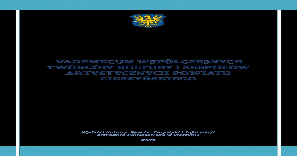 Vademecum Wspczesnych Twrcw Kultury I Zespow Pdf Document